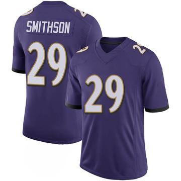 Youth Nike Baltimore Ravens Fish Smithson Purple 100th Vapor Jersey - Limited