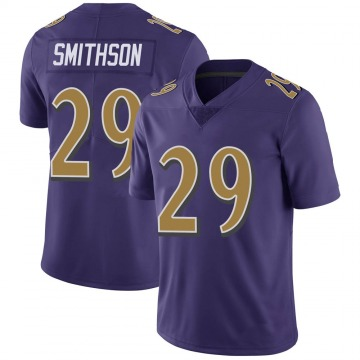 Youth Nike Baltimore Ravens Fish Smithson Purple Color Rush Vapor Untouchable Jersey - Limited