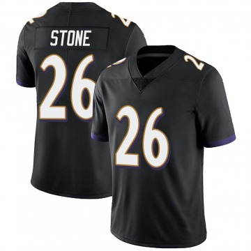 Youth Nike Baltimore Ravens Geno Stone Black Alternate Vapor Untouchable Jersey - Limited