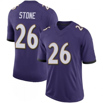 Youth Nike Baltimore Ravens Geno Stone Purple 100th Vapor Jersey - Limited