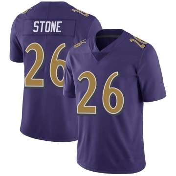 Youth Nike Baltimore Ravens Geno Stone Purple Color Rush Vapor Untouchable Jersey - Limited