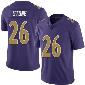 Youth Nike Baltimore Ravens Geno Stone Purple Team Color Vapor Untouchable Jersey - Limited