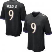 best service 1a8bb 3bfa8 Youth Nike Baltimore Ravens Gerald Willis III Black Jersey - Game