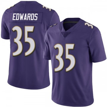 Youth Nike Baltimore Ravens Gus Edwards Purple Team Color Vapor Untouchable Jersey - Limited