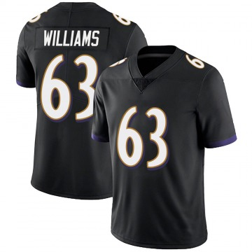 Youth Nike Baltimore Ravens Isaiah Williams Black Alternate Vapor Untouchable Jersey - Limited