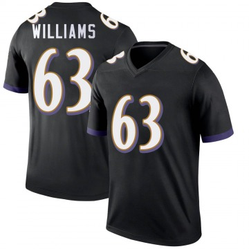 Youth Nike Baltimore Ravens Isaiah Williams Black Jersey - Legend