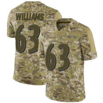 Youth Nike Baltimore Ravens Isaiah Williams Camo 2018 Salute to Service Jersey - Limited