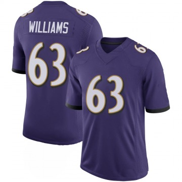 Youth Nike Baltimore Ravens Isaiah Williams Purple 100th Vapor Jersey - Limited