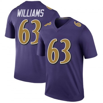 Youth Nike Baltimore Ravens Isaiah Williams Purple Color Rush Jersey - Legend