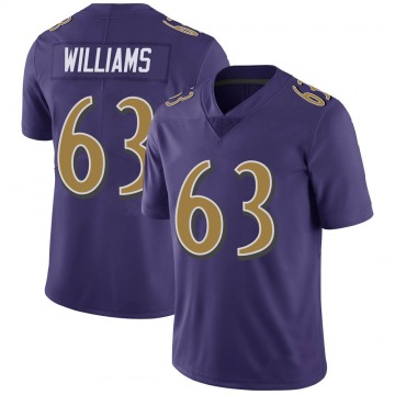Youth Nike Baltimore Ravens Isaiah Williams Purple Color Rush Vapor Untouchable Jersey - Limited