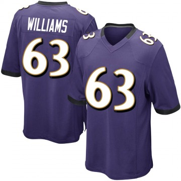 Youth Nike Baltimore Ravens Isaiah Williams Purple Team Color Jersey - Game