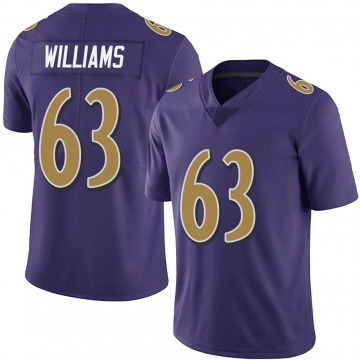 Youth Nike Baltimore Ravens Isaiah Williams Purple Team Color Vapor Untouchable Jersey - Limited