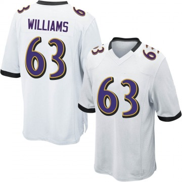Youth Nike Baltimore Ravens Isaiah Williams White Jersey - Game