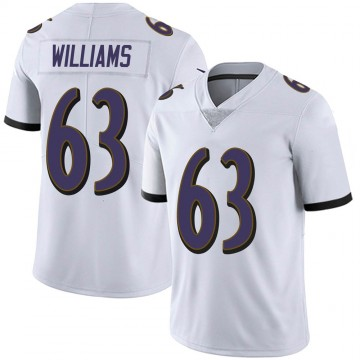 Youth Nike Baltimore Ravens Isaiah Williams White Vapor Untouchable Jersey - Limited