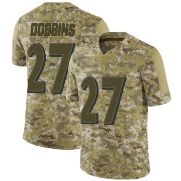 Youth Nike Baltimore Ravens J.K. Dobbins Camo 2018 Salute to Service Jersey - Limited