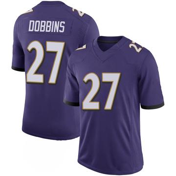 Youth Nike Baltimore Ravens J.K. Dobbins Purple 100th Vapor Jersey - Limited
