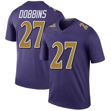 Youth Nike Baltimore Ravens J.K. Dobbins Purple Color Rush Jersey - Legend