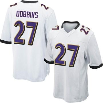 Youth Nike Baltimore Ravens J.K. Dobbins White Jersey - Game
