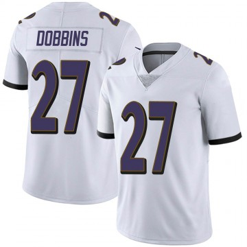 Youth Nike Baltimore Ravens J.K. Dobbins White Vapor Untouchable Jersey - Limited