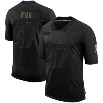 Youth Nike Baltimore Ravens Jake Ryan Black 2020 Salute To Service Jersey - Limited