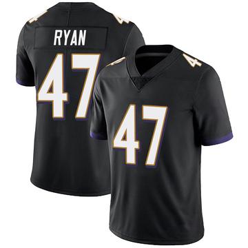 Youth Nike Baltimore Ravens Jake Ryan Black Alternate Vapor Untouchable Jersey - Limited