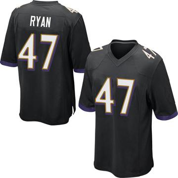 Youth Nike Baltimore Ravens Jake Ryan Black Jersey - Game