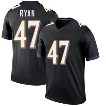 Youth Nike Baltimore Ravens Jake Ryan Black Jersey - Legend
