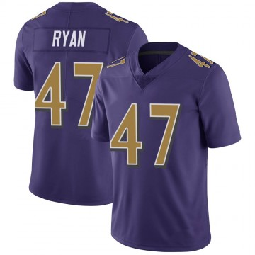 Youth Nike Baltimore Ravens Jake Ryan Purple Color Rush Vapor Untouchable Jersey - Limited