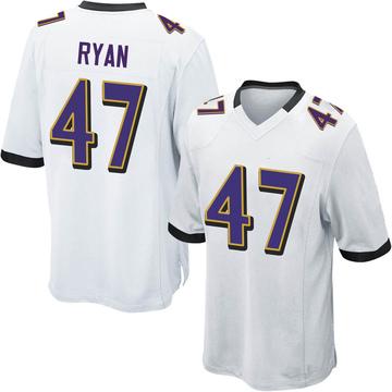Youth Nike Baltimore Ravens Jake Ryan White Jersey - Game