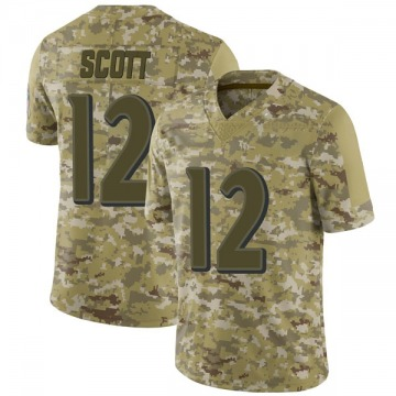 Youth Nike Baltimore Ravens Jaleel Scott Camo 2018 Salute to Service Jersey - Limited