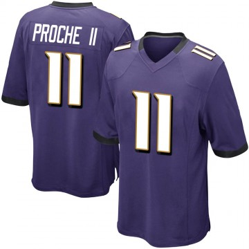 Youth Nike Baltimore Ravens James Proche Purple Team Color Jersey - Game