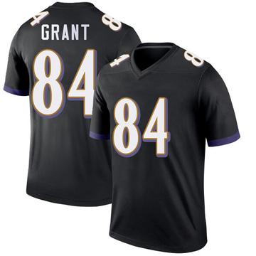 Youth Nike Baltimore Ravens Janarion Grant Black Jersey - Legend