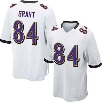 Youth Nike Baltimore Ravens Janarion Grant White Jersey - Game