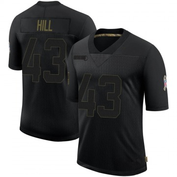 Youth Nike Baltimore Ravens Jaylen Hill Black 2020 Salute To Service Jersey - Limited
