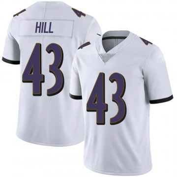 Youth Nike Baltimore Ravens Jaylen Hill White Vapor Untouchable Jersey - Limited