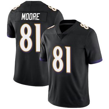 Youth Nike Baltimore Ravens Jaylon Moore Black Alternate Vapor Untouchable Jersey - Limited