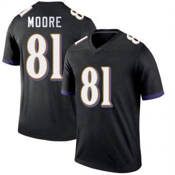 Youth Nike Baltimore Ravens Jaylon Moore Black Jersey - Legend