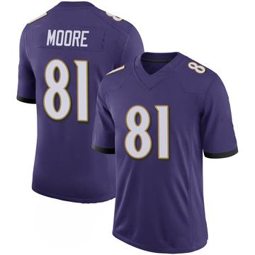 Youth Nike Baltimore Ravens Jaylon Moore Purple 100th Vapor Jersey - Limited