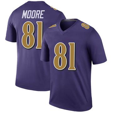 Youth Nike Baltimore Ravens Jaylon Moore Purple Color Rush Jersey - Legend