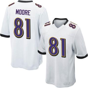 Youth Nike Baltimore Ravens Jaylon Moore White Jersey - Game