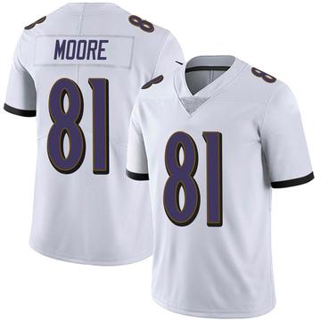 Youth Nike Baltimore Ravens Jaylon Moore White Vapor Untouchable Jersey - Limited