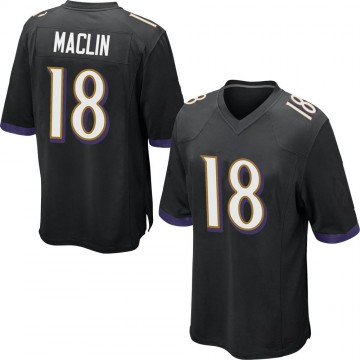 Youth Nike Baltimore Ravens Jeremy Maclin Black Jersey - Game