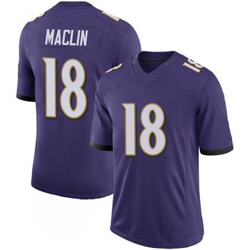 Youth Nike Baltimore Ravens Jeremy Maclin Purple 100th Vapor Jersey - Limited