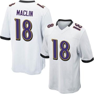 Youth Nike Baltimore Ravens Jeremy Maclin White Jersey - Game