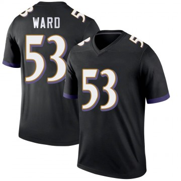 Youth Nike Baltimore Ravens Jihad Ward Black Jersey - Legend