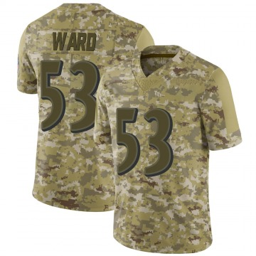 Youth Nike Baltimore Ravens Jihad Ward Camo 2018 Salute to Service Jersey - Limited
