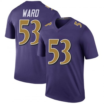 Youth Nike Baltimore Ravens Jihad Ward Purple Color Rush Jersey - Legend