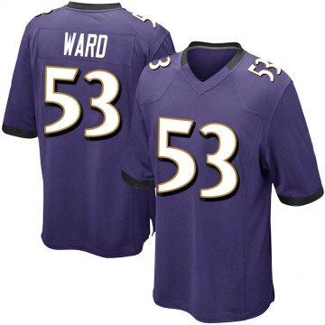 Youth Nike Baltimore Ravens Jihad Ward Purple Team Color Jersey - Game