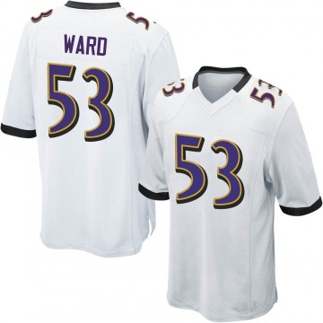 Youth Nike Baltimore Ravens Jihad Ward White Jersey - Game