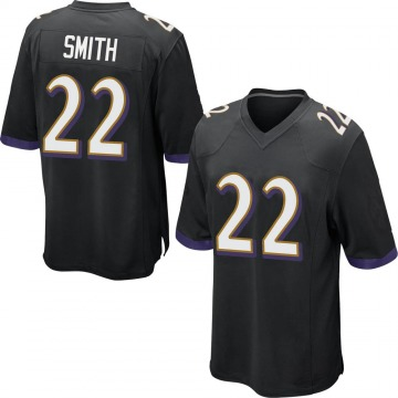 Youth Nike Baltimore Ravens Jimmy Smith Black Jersey - Game